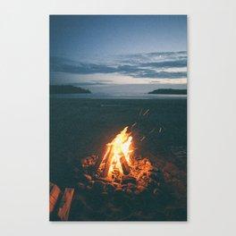 Beach Fire Canvas Print