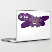 gengar Laptop & iPad Skins featuring Pkmn #094: Gengar by Michelle Rakar