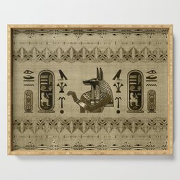Egyptian Anubis Ornament Serving Tray