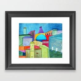 La cuidad alegre Framed Art Print