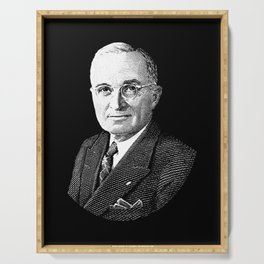 President Harry Truman Graphic Serving Tray
