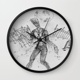 Zombie Yard Wall Clock
