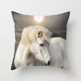Moonlight Horse Throw Pillow