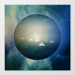 Communicate in Blue / Archipelago 27-01-17 Canvas Print
