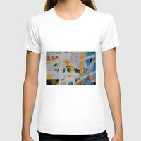grafitti T-shirts featuring Some flags, circles & paint. Magic layers by AntWoman