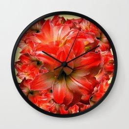 Amaryllis Floral abundance Wall Clock