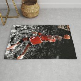 Michael Jord-an Poster, Michael Jord-an Dunk Poster Wall Art, Infamous Jumpman Free Throw Line Dunk, Premium Matte posters no Frame, Poster Rug