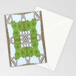 Bark Leaves Stone Kaleidoscope Art 8 Stationery Cards