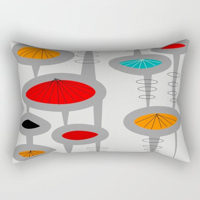 Mid-Century Modern Space Age 2 Rectangular Pillow