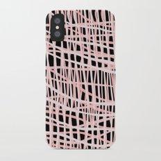 Net Blush on Black Slim Case iPhone X