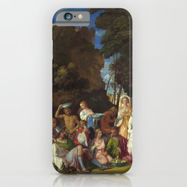 "Giovanni Bellini and Titian ""The Feast of the Gods"" iPhone Case"