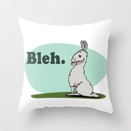 Bleh llama llama Throw Pillow
