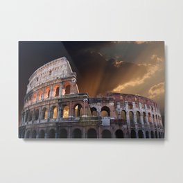 The Coliseum of Ancient Rome Metal Print