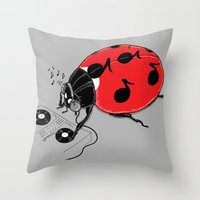 dj Throw Pillows featuring DJ beatLE  by pigboom el crapo
