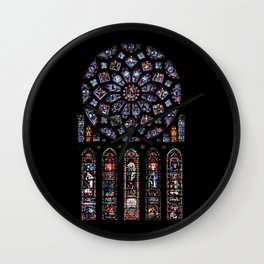 rosette cathedral Wall Clock