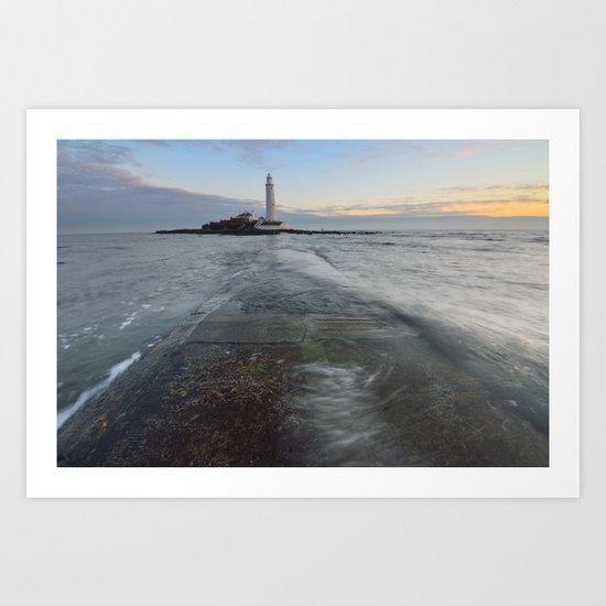 St Marys Lighthouse Art Print