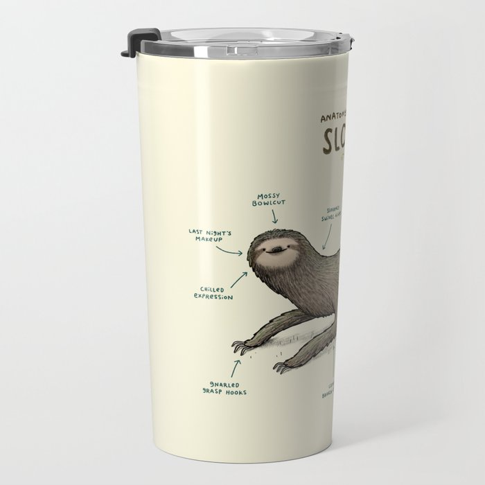 Anatomy of a Sloth Travel Mug