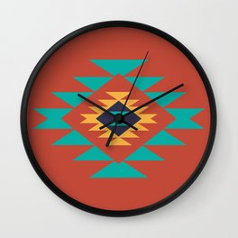 Southwest Indian Tribal Abstract Pattern Wall Clock