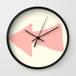 Peach Arrow on Pale Yellow Wall Clock