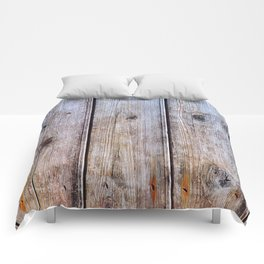 Old Fence Planks With Rust, Wood Decor Comforters
