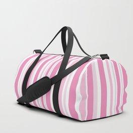 Pink Stripes Duffle Bag