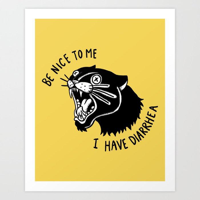Panther Poop Art Print