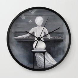 The Pianist Wall Clock