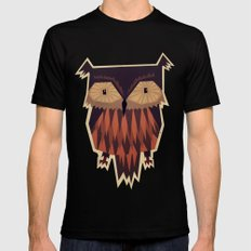Owl Black LARGE Mens Fitted Tee