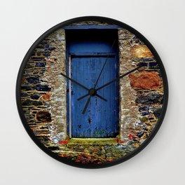The Blue Door of Ballymascanlon Wall Clock