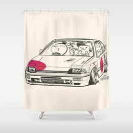 Crazy Car Art 0165 Shower Curtain