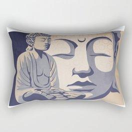Zen Buddha: Awakened and Enlightened One Rectangular Pillow