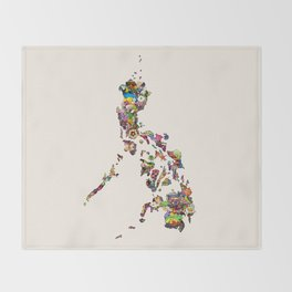 7,107 Islands | A Map of the Philippines Throw Blanket