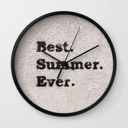 Best Summer Ever Wall Clock