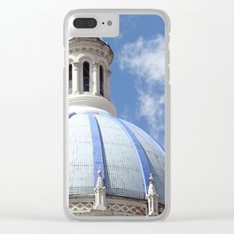 Blue Dome Clear iPhone Case