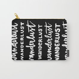 Wanderlust Black/White Carry-All Pouch