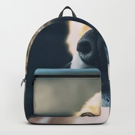 Cute puppy by Jeremiah Higgins Backpack