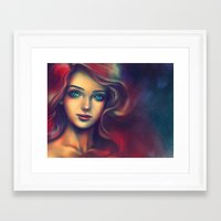 under the sea Framed Art Prints featuring Under the Sea by Alice X. Zhang