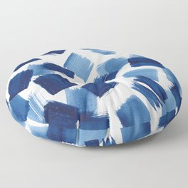 Indigo Brush Strokes | No.1 Floor Pillow
