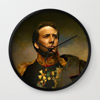 shopping Wall Clocks featuring Nicolas Cage - replaceface by replaceface