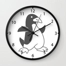geometric penguin Wall Clock