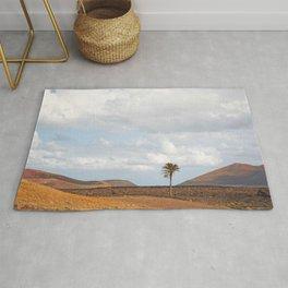 Lanzarote Palm tree landscape Rug