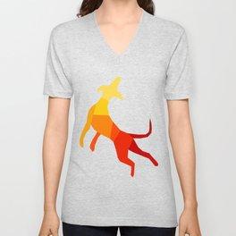 Abstract dog Unisex V-Neck