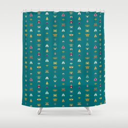 Line up bugs Shower Curtain