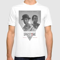 Inspector Spacetime  2X-LARGE White Mens Fitted Tee
