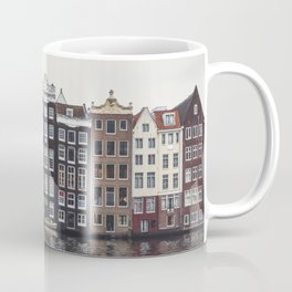 Typical Dutch houses built by the canal, Amsterdam, Netherlands Coffee Mug