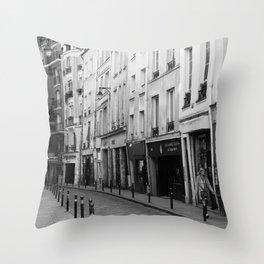 Paris in Black and White, Quartier Latin Throw Pillow