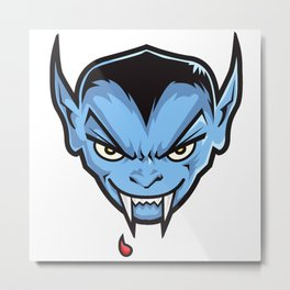 VAMPY (HEAD ONLY) Metal Print