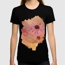 Raindrops on leaves and flowers T-shirt