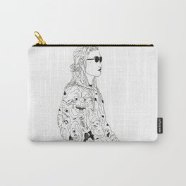 girl with record plastic bag Carry-All Pouch