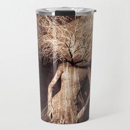 Dark portrait in autumn (colour option) Travel Mug